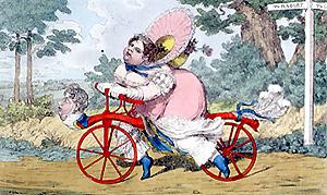 vrouw op fiets afbeelding